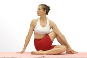 Twisting the spine laterally. Flexibility of the spine, aids digestion, stretches shoulders hips, neck,